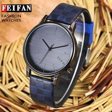 Nuevos Hombres Feifan Marca Relojes 40mm hombres del Cuarzo Militar Reloj de Pulsera de La Vendimia Reloj de pulsera de Moda Casual Sport Relogio masculino