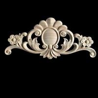 5/10PCS European Wood Applique Carved Floral Long Flower Furniture Decorative Accessories Home Decoration Accessories