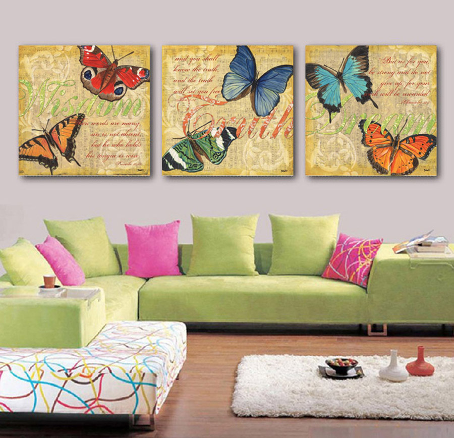 Aliexpress Com Buy Free Shipping 3 Piece Wall Decor: Free Shipping Canvas Painting 3 Piece Art Picture