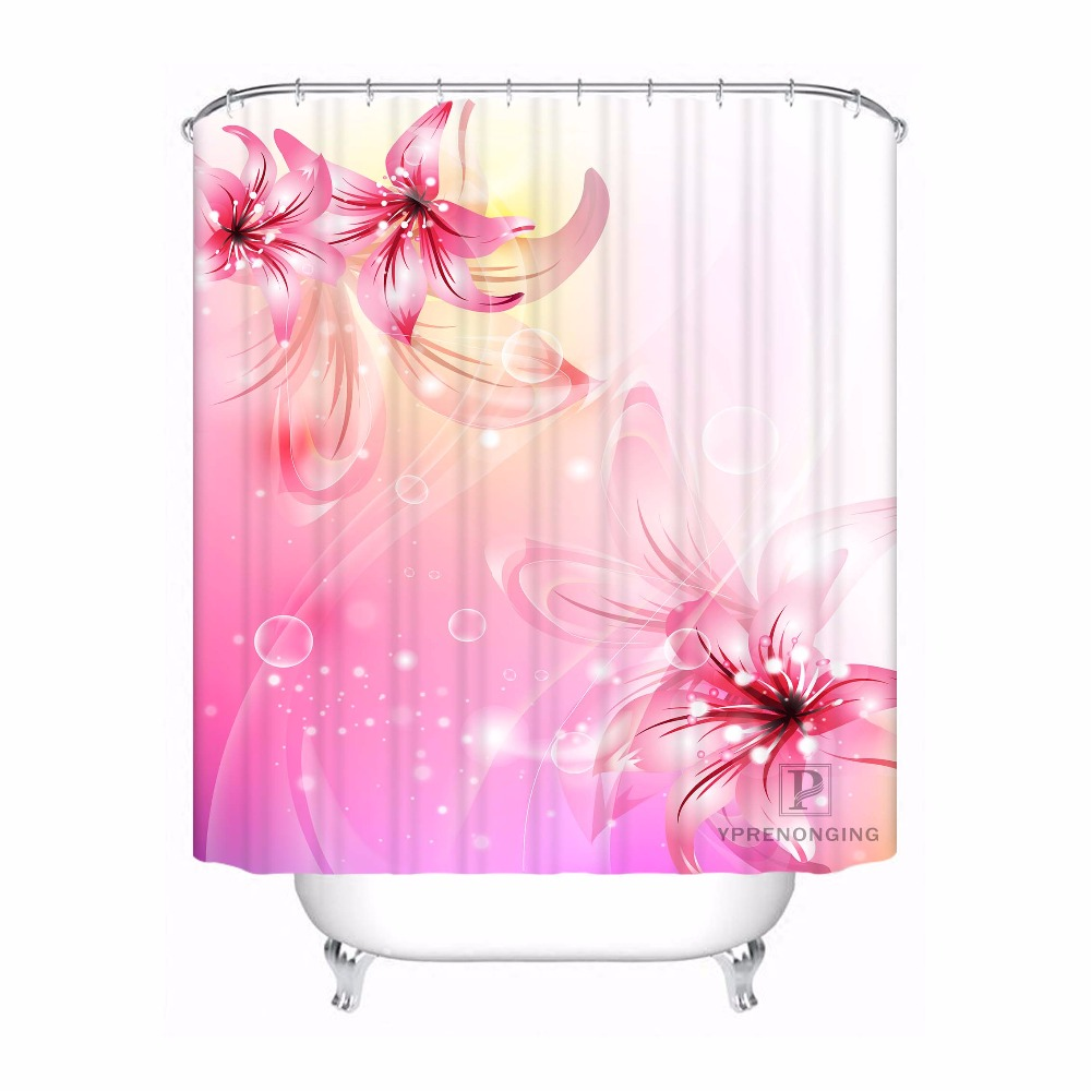 Custom nature of beautiful rose Scenery colorful flowers Fabric Modern Shower Curtain bathroom Waterproof #180324-21-03
