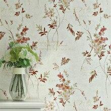 Beibehang behang Vintage papel pintado de país americano no tejido jardín flor dormitorio Sala sofá TV Fondo 3D papel tapiz