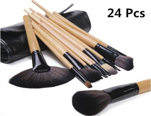 Rosalind Professional 24 maquiagem escova ferramentas Make Up Kit de higiene pessoal lã marca maquiagem escova caso grátis frete