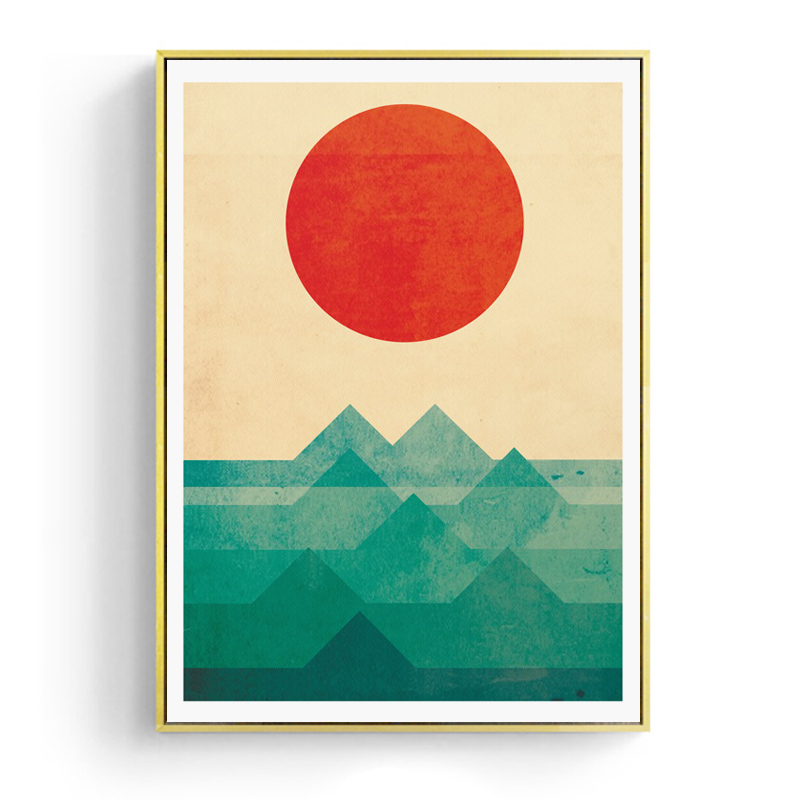 Japanese Canvas Prints and Posters Wall Art Sun Wall Pictures for ...