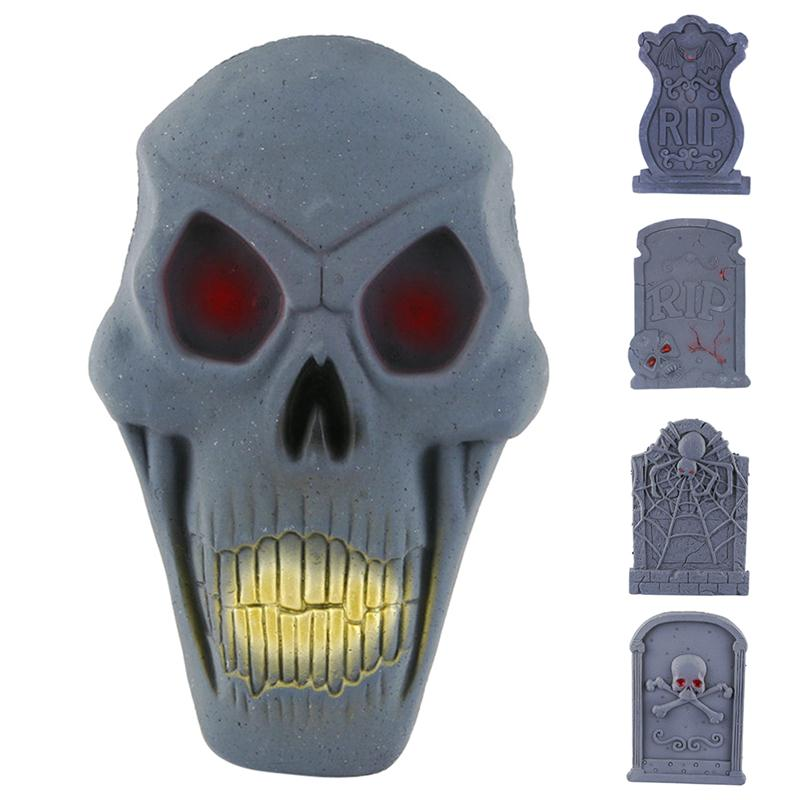 15 plastic skull decor prop skeleton head halloween coffee bars ornament rip stone grisly props - Cheap Halloween Props