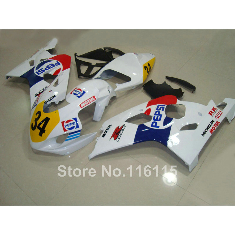 ABS Fairing kit for SUZUKI GSXR600 K4 K5 2004 2005 white blue PEPSI bodywork GSXR 600 GSX-R 750 04 05 fairings TY7 motorcycle fairing kit for suzuki gsxr600 k4 k5 2004 2005 black yellow gsxr 600 gsx r 750 04 05 fairings ty38