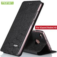 For Xiaomi Redmi 4X Case Cover Flip Silicone MOFi Original Xiaomi Redmi 4x Case Fundas TPU