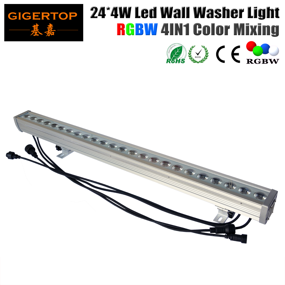 TIPTOP High Quality 24x4W Outdoor Led Wall Washer Light RGBW Led Bar Light DMX Mode,Led Stage Light Waterproof IP65 90V-240V tiptop tp w18 18x3w rgb led pixel wall washer light 3in1 waterproof architectural led lighting outdoor dmx ip65 led flood light