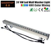 TIPTOP High Quality 24x4W Outdoor Led Wall Washer Light RGBW Led Bar Light DMX Mode,Led Stage Light Waterproof IP65 90V-240V