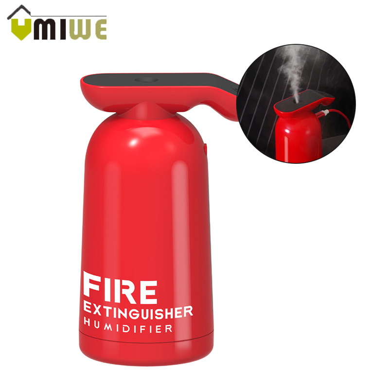 Ultrasonic Air Humidifier New Mini Mute Fire Extinguisher Creative Home Desk Office Portable USB Diffuser Moisturizing For Kids