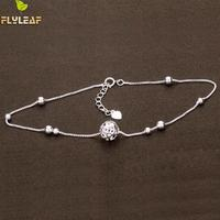 New Arrival Hollow Ball 925 Sterling Silver Bracelets For Women Elegant Lady Bead Chain Bracelet Fashion