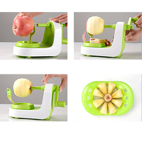 Creatieve Handmatig Apple Dunschiller Home Kitchen Tool Handmatig Apple Fruit Peeler Peeling Machine Staal Scherpe Mes Chip Cut Fruit