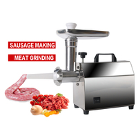 GZZT Electric Meat Grinder Sausage Stuffer Mincer Heavy Duty Household Mincer Stainless Steel Home Meat Grinder