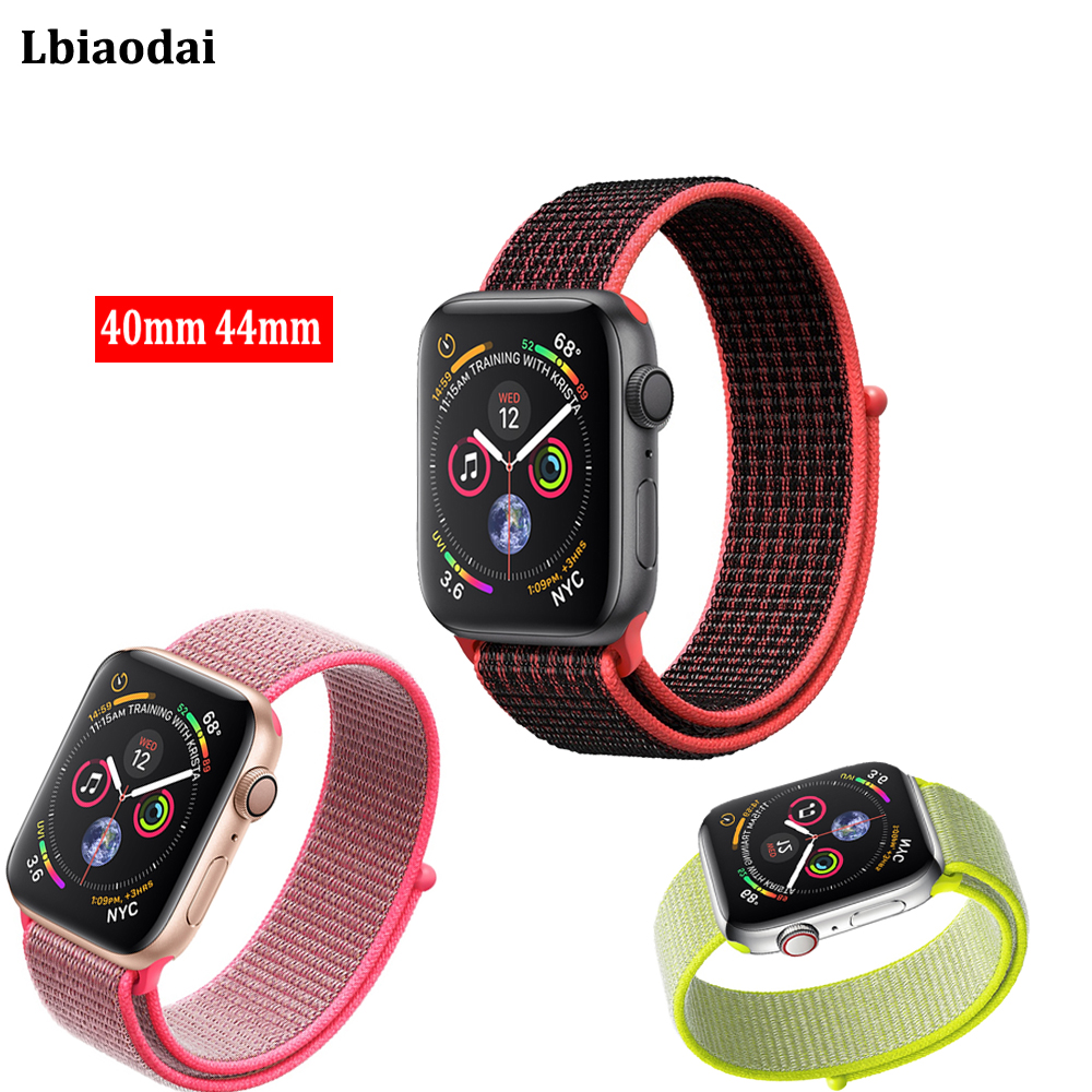 Woven Nylon strap For Apple Watch band 42mm 38mm 44mm 40mm Sport Loop correa iwatch 4/3/2/1 wristband watchband bracelet belt eimo sport loop strap correa for apple watch band 42mm 44mm 40mm 38mm iwatch series 4 3 2 1 woven nylon bracelet wrist watchband