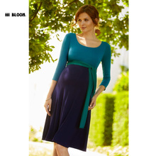 Easter Gift Maternity Clothes Maternity Dress Elegant Evening Party Dresses For Pregnancy Blue Skirt Office Lady Vestidos
