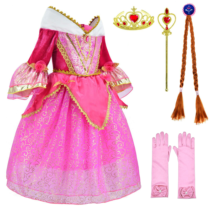 Princess, Dress, Party, Costume, Aurora, Girls