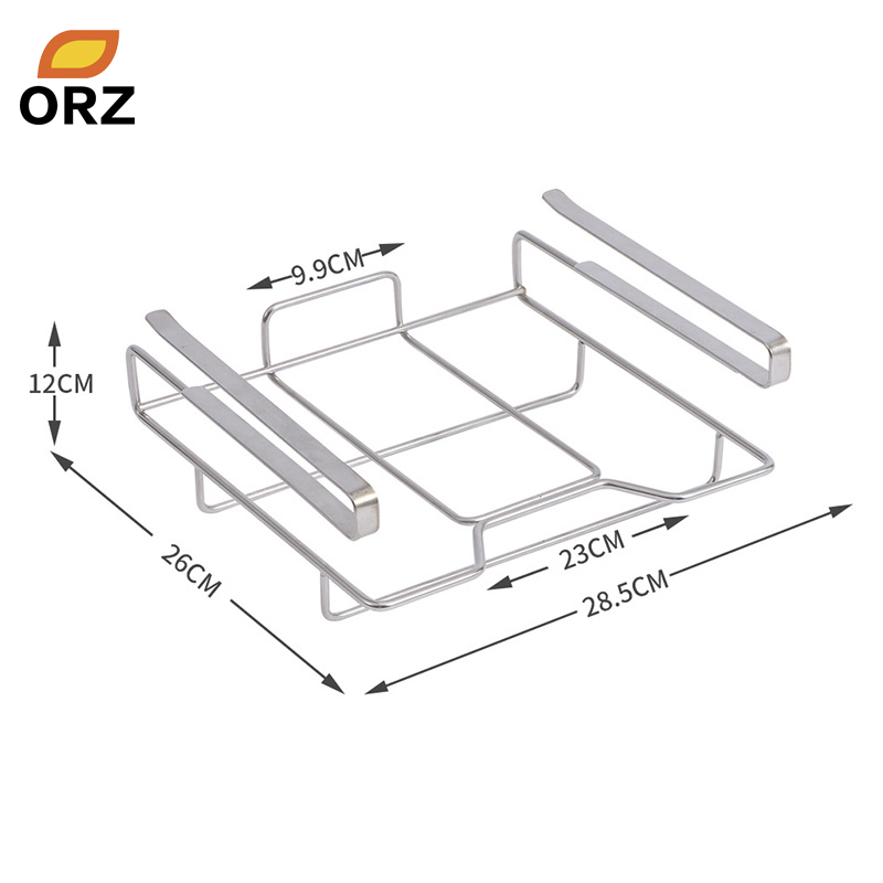 ORZ Kitchen Towel Holder Cutting Board Rack Chopping Board Holder Stainless Steel Hanging Storage Shelf Rack Kitchen Organizer