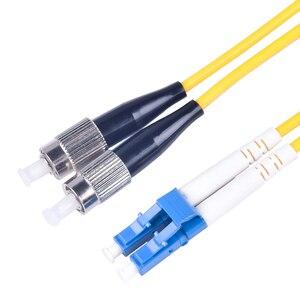 Image 4 - Cabo de ligação em ponte da fibra ótica de 10 pces lc/UPC FC/upc fibra duplex 3.0mm pvc 3 medidores cabo de remendo da fibra lc fc