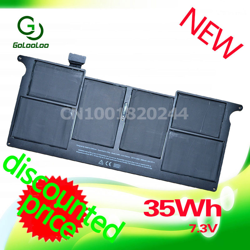 цена на Golooloo For Apple 7.3V 35Wh Laptop Battery A1406 MacBook Air 11