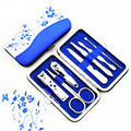7 Pcs/set Blue And White Porcelain Nail Set Manicure Eyebrow Shaping Beauty Tools Nail Clippers Scissors Promotional Gifts
