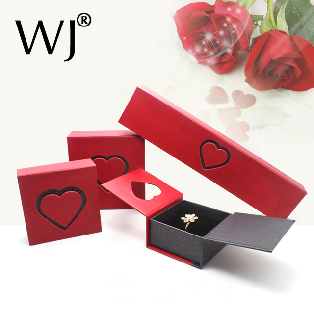 Gift Charm Jewelry Box Storage Presentation Bracelet Earrings