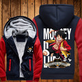 One Piece Hoodie New Japan Anime Coat Jacket Fashion Men Warm Winter Zipper Thick Sweatshirt