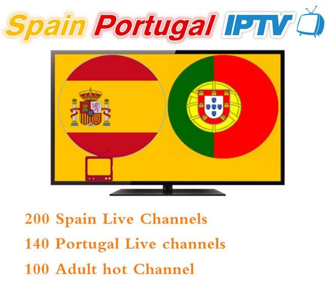 12 meses España Portugal IPTV Suscripción de 400 + HD LIVETV para España Portuga IPTV incluyen once deportes para enigma2 M3U smart tv