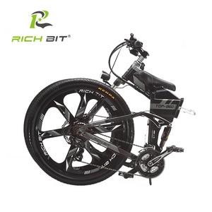 Image 4 - RichBit RT 860 36V * 250W 12.8Ah הרים היברידי חשמלי אופניים רכיבה על אירופאי מהיר deliveryFrame בתוך Li על סוללה פי