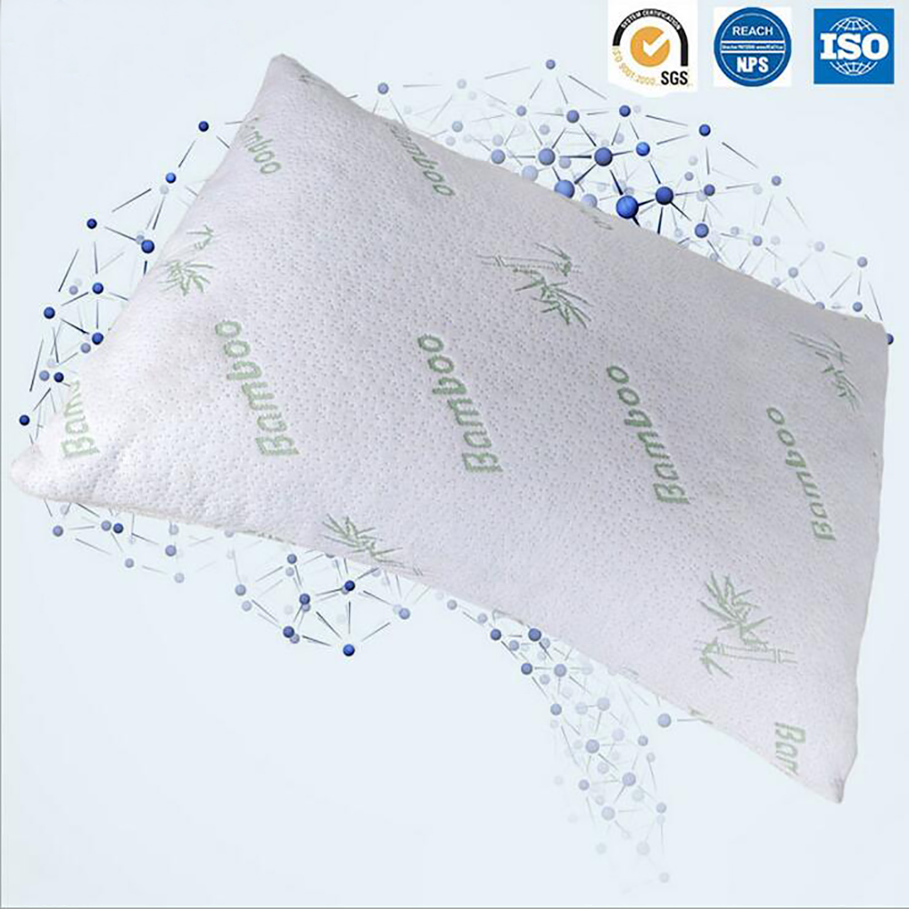 improved design adjustable shredded memory foam pillow with viscose rayon cover derived from bamboo