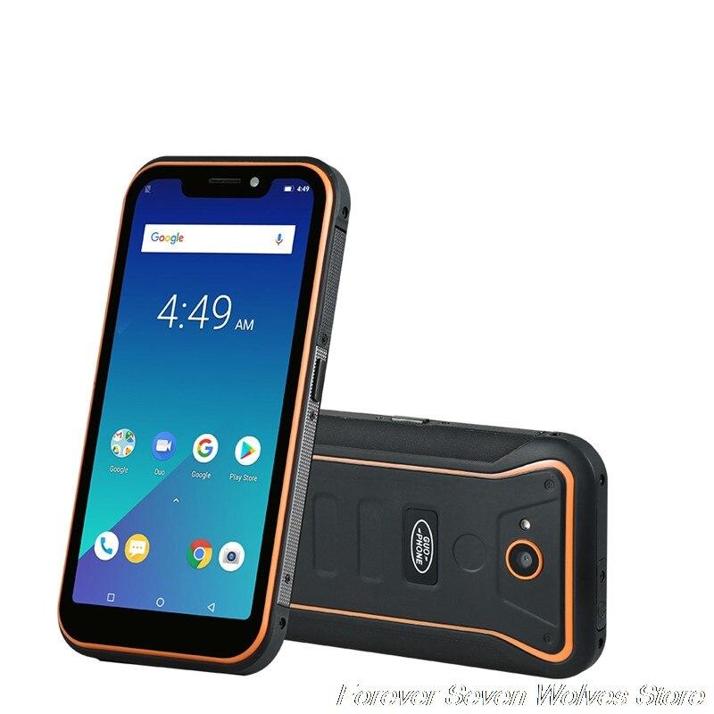 Guophone X3 5.5 5000 mah MTK6739 Quad Core 2 gb RAM 16 gb ROM Android 8.1 GPS 8MP 3g WCDMA LTE Smartphone Étanche