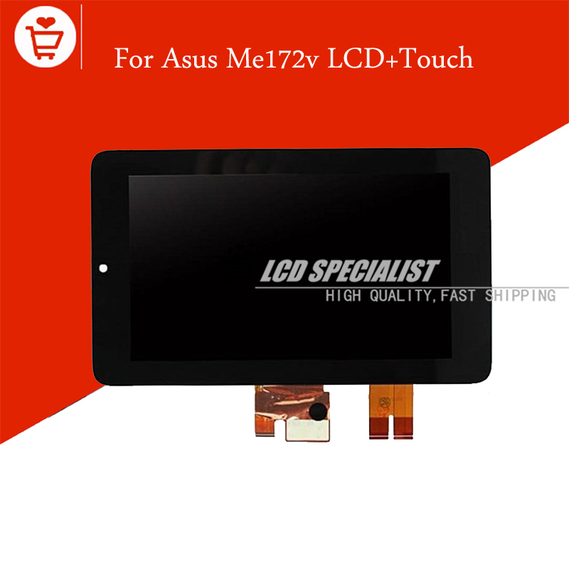 New 7 Inch For ASUS MeMO Pad ME172V ME172 LCD Display With Touch Screen Digitizer Full Assembly Panel Repartment new 10 1 inch best quality me302kl lcd for asus memo pad fhd10 me302 lcd display touch screen digitizer assembly