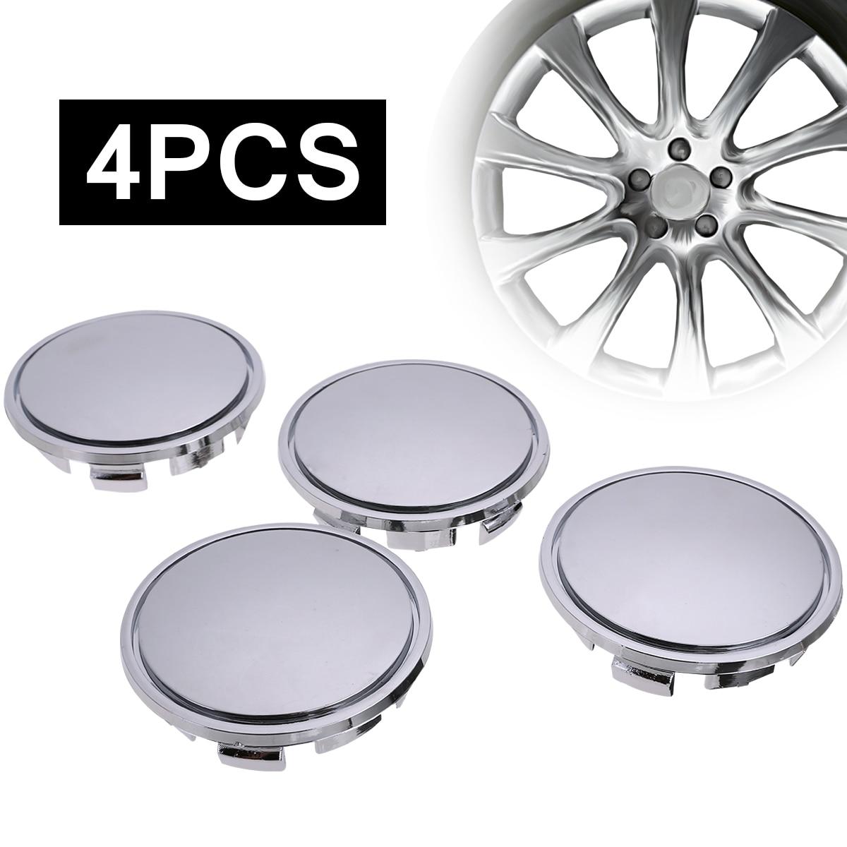 4x Wheel Center Cover Wheel Hub Cap Auto Tyre Rim Cover Universal 65mm Hub Caps