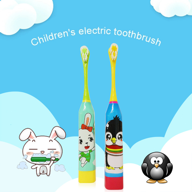 Children Battery Electric Toothbrush Cartoon Electric Teeth Brush For Kids Oral Hygiene Teeth Care Tools (Battery not include)