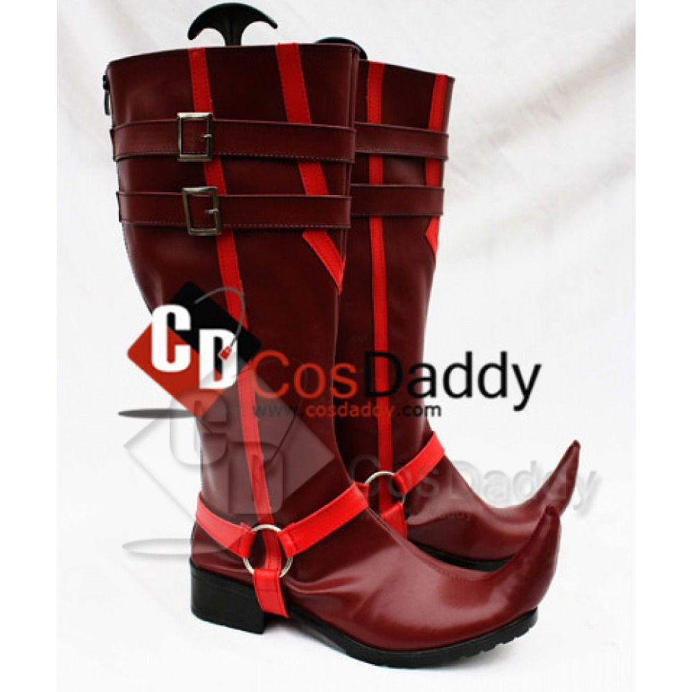 CosDaddy Blue Exorcist Ao no Exorcist Mephisto Pheles Boot Sexy High red  new arrival leather shoe