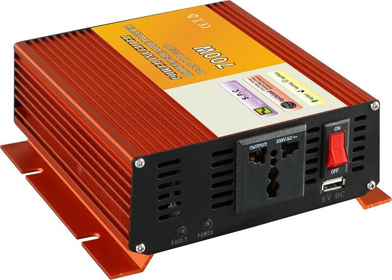 MAYLAR@ 1pcs 750W Mini Size Car Power Inverter Converter DC 12V to AC 110V or 220V Modified Sine Wave Power Solar inverters tm 750 mini pocket solar power meter
