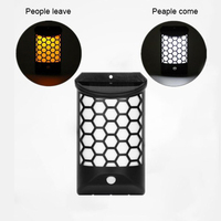 Outdoor LED Solar Light Intelligent Motion Sensor Solar Wall Light IP65 Waterproof Auto adjust light when people come and leave
