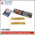 2 unids/lote 315 Mhz/433 MHz Superheterodino Ask Módulo STX882 Inalámbrico/Springfor SRX882 con Chapado En Oro envío gratis