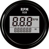 Digitale Toerenteller Gauge Boot Buitenboordmotor Truck Auto RV Waterdichte RPM Meter Gauge Motor Urenteller 0-999 52mm