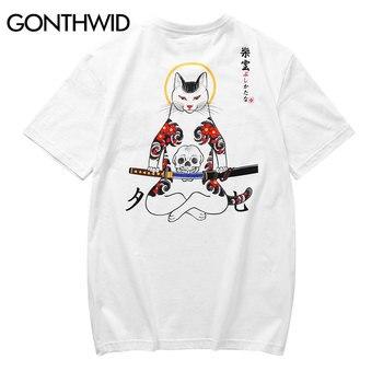 GONTHWID Japanese Embroidery Fox Mask Wa...
