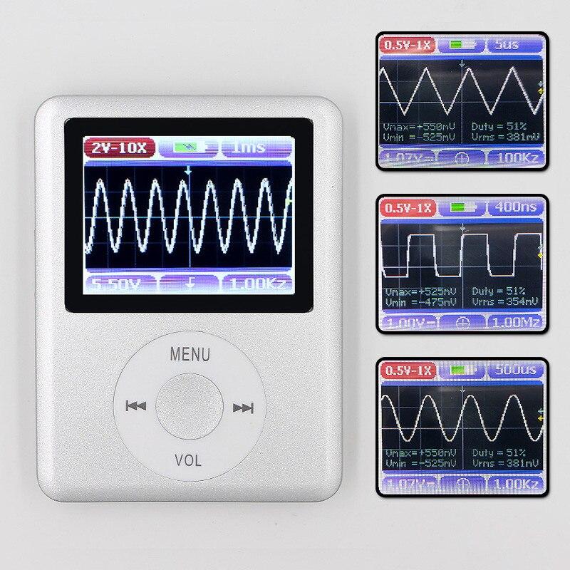 DSO168 ручной Мини карманный портативный ультра-Маленький цифровой осциллограф м 20 м пропускной способности м 100 м Частота дискретизации