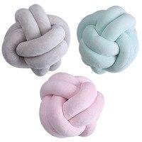 2017 New Nordic Style Lovely Cartoon Velvet Knot Ball Cushion Pillow Baby Calm Sleep Dolls Stuffed