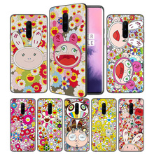 Murakami Takashi Sunflower Soft Black Silicone Case Cover for OnePlus 6 6T 7 Pro 5G Ultra-thin TPU Phone Back Protective