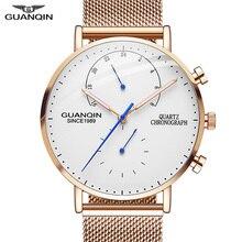 2019 メンズ腕時計 GUANQIN トップブランドの高級発光時計男性ビジネスフル鋼クリエイティブ腕時計レロジオ Masculino