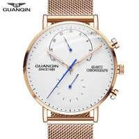 2019 herren Uhren GUANQIN Top Marke Luxus Leuchtende Uhr Männer Geschäfts Voller Stahl Kreative Quarz Armbanduhr Relogio Masculino