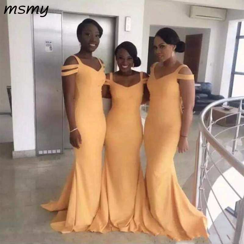 Latest Long   Bridesmaid     Dresses   Sleeveless Simple Style Excellent Quality Formal   Bridesmaid   Gowns Charming   Dresses