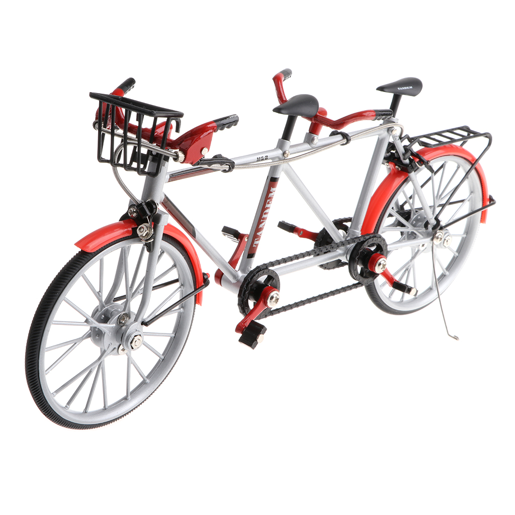 1:10 Alloy Diecast Racing Tandem Bike Model Bicycle Vehicle Replica Toy Showcase Display Collection la prairie platinum collection replica набор platinum collection replica набор
