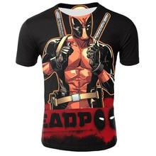 Deadpool T Shirt 3D Pirnt Shirts Men Superhero Tshirt Funny Tee Comic Badass T-Shirt Marvel Avengers 2019 New Summer Tees S-5XL