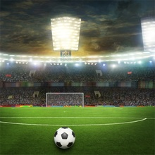 Laeacco Stadium Soccer Football Game Scene Photo Backgrounds Customized Photography Backdrops For Studio