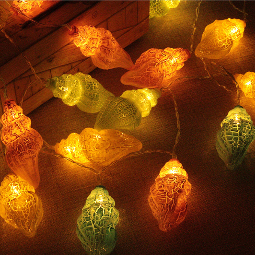 1,5m 10leds 3m 20leds Conch LED String Light Holiday Jul - Festlig belysning - Foto 5