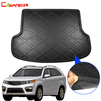 Cawanerl Car Tail Trunk Mat Tray Boot Liner Luggage Pad Mud Protector Floor Cargo Carpet For Kia Sorento 5 Seat 2013 2014