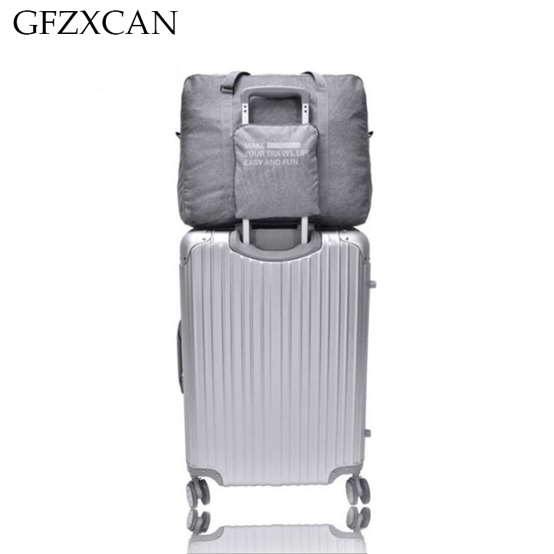 Women's Large-capacity Fashion Trolley Case Travel Bag Men's Waterproof Portable Folding Suitcase Luggage Bag
